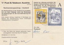 Österreich - 1999 Nachsendeantrag Nach Deutschland - Hofburg Und Der Heilige Konrad - 1945-.... 2a Repubblica