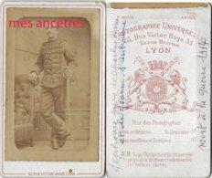 CDV Mort Guerre De 1914-à Trouver-Alphonse FERRIER, Frère De Charles Et De Jeanne-14eR-photo Universelle Lyon - Guerre, Militaire