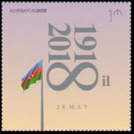 2018Azerbaijan 1377100 Years Of The First Azerbaijan Republic - Aserbaidschan