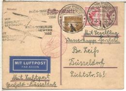 ALEMANIA 1932 VUELO GERSFELD DUSSELDORF RHÖN SEGELFLUG WASSERKUPE - Deutschland