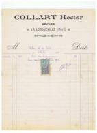 COLLART HECTOR  BRIQUES à LA LONGUEVILLE (NORD) 1922 - Francia