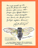 étiquette De Vin Chateau Vignelaure 1985 Texte Ernst Junger Et Dessin Peintre Bernard Dufour - Cigale - Vin De Pays D'Oc
