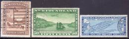 1931 NEWFOUNDLAND SG #192-94 Compl. Set Used CV £150 Airmail No Wmk - 1908-1947