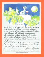 étiquette De Vin Chateau Vignelaure 1986 Texte Régine Deforges Et Dessinateur Wiaz - 75 Cl - Chat - Vin De Pays D'Oc