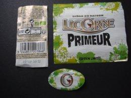 Alsace - Bière Primeur Licorne Bio - 66 Cl - Bière De Saison En Edition Limitée - Birra