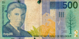BELGIUM 500 FRANCS ND (1998) G-VG P-149 (free Shipping Via Registered Air Mail) - 500 Frank