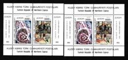 1993 Cipro Turca Turkish Cyprus EUROPA CEPT EUROPE 2 Foglietti MNH** 2 Souv. Sheets - Europa-CEPT