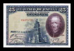 España Spain 25 Pesetas C. De La Barca 1928 Pick 74b Serie C EBC XF - [ 1] …-1931 : Eerste Biljeten (Banco De España)