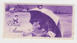 AB521 - MIGNONETTE - Bonne Année- Fillette - Enfant - Children - Chien - Cadeaux - Parapluie - Paysage D'hiver - Nouvel An