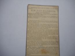D.P.-EERW-H.JAN HARRENS °KUURNE 12-6-1879+VINKEM 5-6-1942 ONDERP TE KOEKELARE-PASTOOR TE VINKEM - Religion & Esotérisme