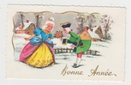 AB522 - MIGNONETTE - Bonne Année- Couple - Princesse - Paysage D'hiver Avec Paillettes - Nouvel An