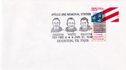 USA 1992 Cover: Space Weltraum Espace: Astronauts Apollo 1; Huston Cancellation - Space