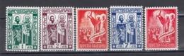 Bulgaria 1937 - Millenaire De L' Alphabet Cyrillique, YT 290/94, MNH** - 1909-45 Kingdom