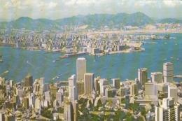 HONG KONG - A Bird's Eyeview Of Victoria Harbour 1984 - Cina (Hong Kong)