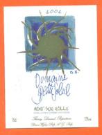 étiquette De Vin Suisse Mont Sur Rolle Domaine De Beau Soleil 2002 Thierry Durand à Rolle - 75 Cl - Vin De Pays D'Oc