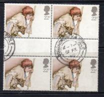ENR6B - GRAN BRETAGNA 1984 , 22 P. Quartina Usata  (2380A) - Usati