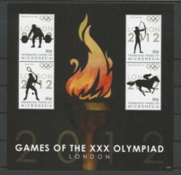 Micronesia 2012 Olympic Games London Sheet Y.T. 1946/1949 ** - Micronesia