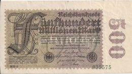 ALLEMAGNE 500 MILLIONEN MARK 1923 VF P 110 - [ 3] 1918-1933: Weimarrepubliek