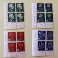 9037 - Pro Juventute 1947 Blocs De 4 Neufs Sans Charnière - Unused Stamps