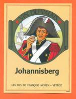 étiquette De Vin Suisse Du Valais Johannisberg François Moren à Vétroz - 75 Cl - Soldat - Officier - Vin De Pays D'Oc
