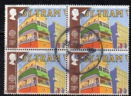 ENR25B - GRAN BRETAGNA 1988 , 31 P. Quartina Usata Del 1311  (2380A)  Europa Train - Usati