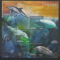 Micronesia 2013 Dolphins Sheet 2 Y.T. 2034/2037 ** - Mikronesien
