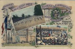 1909 FRANCIA - ANGERS , T.P. NO CIRCULADA ,  FÉTES DE GYMNASTIQUE , GIMNASIA , GYMNASTICS - Gimnasia