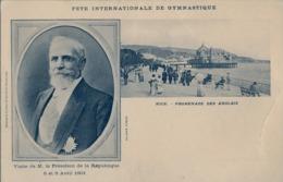 FRANCIA - NICE , T.P. NO CIRCULADA ,  FÉTES DE GYMNASTIQUE , GIMNASIA , GYMNASTICS , PROMENADE DES ANGLAIS - Gimnasia