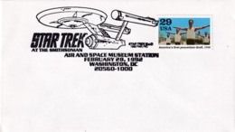 USA 1992 Cover: Space Weltraum Espace; Star Trek Movies; Air And Space Museum Washington - Other