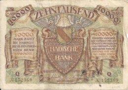 ALLEMAGNE 10000 MARK 1923 VF P S910 - [ 3] 1918-1933 : Weimar Republic