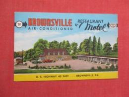-Brownsville  Restaurant & Motel     -Brownsville   Pennsylvania  >ref 3672 - United States