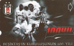 Turkey, N-319, 100th Annv.of Besiktas FC, Football, 2 Scans. - Türkei