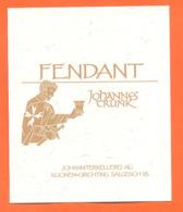 étiquette De Vin Suisse Fendant Johannès Trunk - 75 Cl - Vin De Pays D'Oc