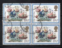 ENR48B - GRAN BRETAGNA 1982 , 19 1/2 P. Quartina Usata Del 1064  (2380A) Natale - Usati