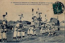 1909 FRANCIA - NANTES , T.P. CIRCULADA ,  CONCOURS DE GYMNASTIQUE , GIMNASIA , GYMNASTICS - Gimnasia
