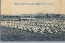 1909 FRANCIA - NANTES , T.P. NO CIRCULADA ,  CONCOURS DE GYMNASTIQUE , GIMNASIA , GYMNASTICS - Gimnasia
