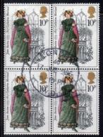 ENR50B - GRAN BRETAGNA 1975 , 10 P. Quartina Usata Del 767  (2380A) - 1952-.... (Elisabetta II)