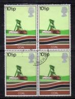 ENR50A - GRAN BRETAGNA 1978 , 10 1/2 P. Quartina Usata Del 856  (2380A) - 1952-.... (Elisabetta II)