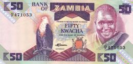 """ZAMBIA 50 KWACHA ND 1986-88 UNC """"free Shipping Via Regular Air Mail (buyer Risk)"""" - Zambia"""