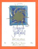 étiquette De Vin Suisse Mont Sur Rolle Domaine De Beau Soleil 2003 Thierry Durand à Rolle - 75 Cl - Vin De Pays D'Oc