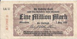ALLEMAGNE 1 MILLION MARK 1923 VF - [ 3] 1918-1933 : Weimar Republic