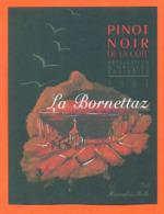 étiquette De Vin Suisse Pinot Noir La Bornettaz 2003 Hammel SA à Rolle - 75 Cl - Vin De Pays D'Oc