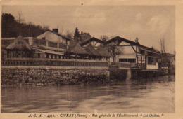 """S42-046 Civray - Vue Générale De L'Etablisement """" Les Ondines """" - Bains Chauds Et Bains Froids Dans La Piscine - Civray"""