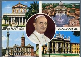 °°° Cartolina - Saluti Da Roma Vedute Viaggiata °°° - Roma (Rome)