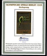 Olympics 1936 - History - High Jump - GERMANY - S/S Vignette MNH - Sommer 1936: Berlin