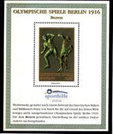 Olympics 1936 - History - Boxing - GERMANY - S/S Vignette MNH - Summer 1936: Berlin