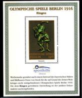 Olympics 1936 - History - Wrestling - GERMANY - S/S Vignette MNH - Sommer 1936: Berlin