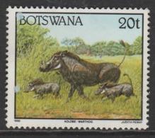 Botswana 1992 Animals  20 T Multicoloured SW 524 O Used - Botswana (1966-...)