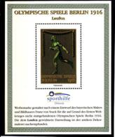 Olympics 1936 - History - Athletics - GERMANY - S/S Vignette MNH - Summer 1936: Berlin