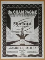 1924 Champagne Morlant De La Marne Reims Exclusivité Dubonnet - Coffre-fort D'appartement Fichet - Publicité - Publicités
